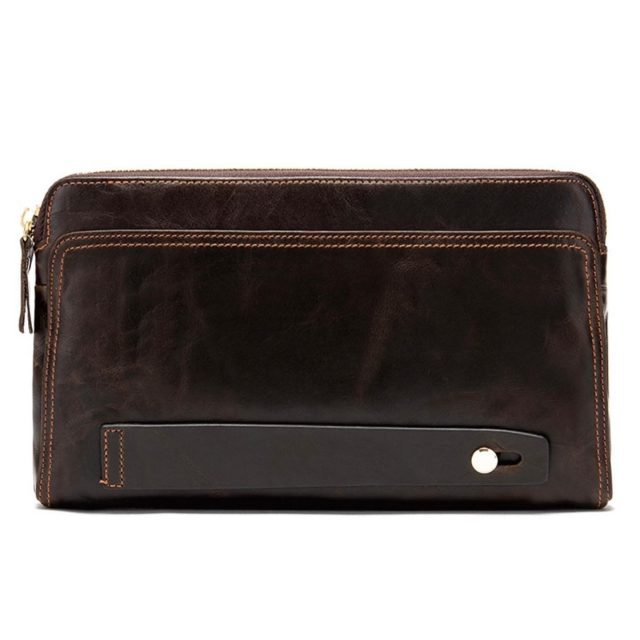 Men's Wristlet in Dark Coffee Brown. $102  Made from soft calf skin, accented gold zipper, spacious and practical wristlet that fits a smart smartphone, cards, mask, keys and more. Must have for any organized & productive person.  Link in bio!  . . . . . . . . . . . . . . . .  #mensfashionposting #mensfashionreviews #mensfashionblog #mensfashionblogger #mensfashionstyles #mensfashiontips #casualmenswear #menswearfashion #mensweardaily #menswearclass #mensfashioninspiration #mensfashionposts #mensclothings #mensbloggers #simplydapper #outfitgrids #menwithclassandstyle #mensstreetstyle #dapperlifestyle #dandystyle #outfitmen #menslooks #menspolo #dapperlydone #bestcasualoutfits #suituptime #absolutebespoke #outfitgarids #mensstreetwear